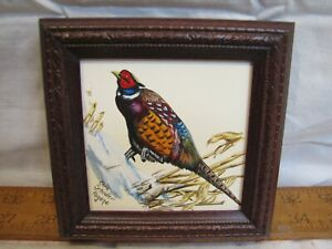 Sm Chris Scheidler Pagano Painting Ring Neck Pheasant Wildlife Game Bird Art