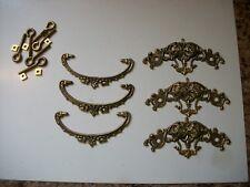 Set of 3 Vintage Metal Dresser Pulls - 7
