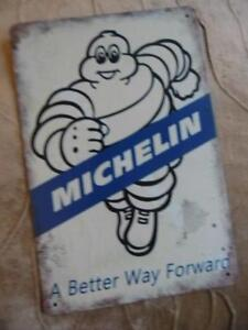 METAL RETRO ADVERTISING SIGN GARAGE WALL PLAQUE MICHELIN A BETTER WAY FORWARD