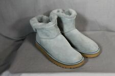 UGG Classic Bling Mini Boots Gray Suede Sheepskin US Size 11