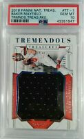 2018 National Treasures Tremendous Baker Mayfield RC Rookie Jersey 16/99 PSA 10