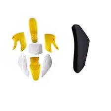 Yellow Plastics Fenders Faring Kit  & Tall Seat Kawasaki KLX 110 DRZ KX RM 65