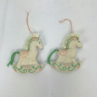4 Baby Blue Miniature Ornaments Baby Shower 1877