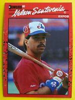 1990 NO Dot INC Nelson Santovenia Donruss 2 ERRORS MINT Baseball Card #224 RARE