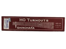 Shinohara HO Turnouts #6 R/H N/Silver Code 70 New