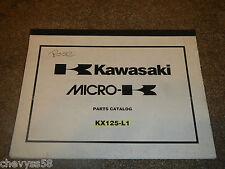 1999 99 KAWASAKI KX125 KX 125 MICRO PARTS CATALOG LIST BOOK