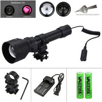 1000Yards Laser Infrared IR 850nm LED Hunting Light Night Vision Torch QD Mount