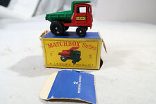 g Matchbox No. 2 Muir Hill Dumper BOXED