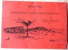 SELECTED PRINTS OF AUSTRALIAN LANDSCAPE PAINTINGS JACK ABSALOM SERIES 1 SET 1