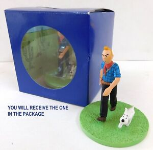 TINTIN ACTION FIGURE WITH HIS DOG MILOU (SNOWY) BOX SCENE COWBOY NEW