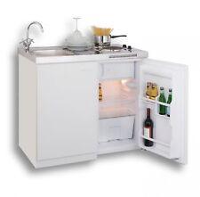 Singlküche Miniküche Kleinküche Küche Küchenblock 100 cm Weiss Kühlschrank A+