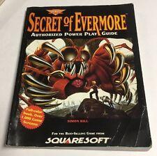Secret of Evermore SNES Super Nintendo Prima Power Play Strategy Guide Book RARE