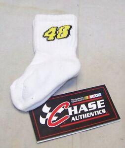 CHASE #48 NASCAR RACING SOCKS KIMMIE JOHNSON KIDS TODDLER SZ 6.5-8 NWT