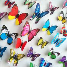 3D Schmetterling 12er-Set Wanddekoration Wandaufkleber Wandtattoo Hochzeit Feier