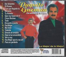 CD salsa PAQUITO GUZMAN ser amantes 25 ROSAS cinco noches ESA MUJER llegaste tu