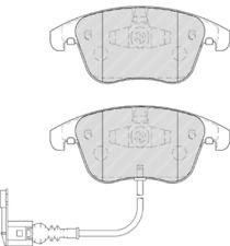 Front Brake Pad Set Fits Audi Seat VW VW (Svw) OE 5N0698151 Ferodo FDB4057