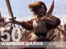 50X Warrior Cards (Includes Rares!) MTG Magic -50 Card Lot Collection Deck-
