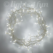100 White LED Christmas Bedroom Indoor Fairy String Lights On 8m Clear Cable