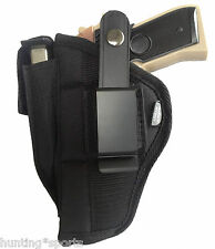 Nylon Gun Holster for Glock 22 OWB Black Ambidextrous by Pro-Tech Size WSB-7