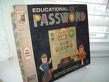 Vintage 1964 Educational Password Game by Milton Bradley