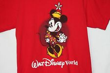 Minnie Mouse Walt Disney World T Shirt Top Adult Polka Dot Dress Unisex Red S