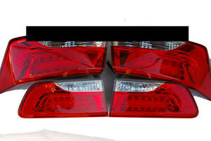 LED Rear Tail Lights Lamp Outer Assembly 4p 1Set for 2009 2013 Kia Forte Koup