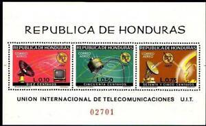 HONDURAS 1968 SPACE SATELLITES S/S MNH  UIT/ITU