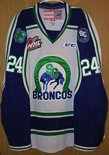 GAME WORN / USED SWIFT CURRENT BRONCOS W.H.L. JERSEY.