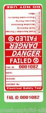150 x Red 'DANGER - FAILED' Premium Electrical Adhesive Test Tag Labels