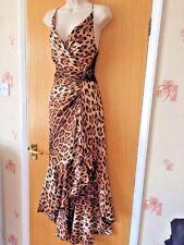 Vestido de encaje Joseph ribkoff Animal Estampado De Leopardo, negro, tango, flamenco, Talla 12