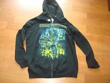 IRON MAIDEN SOMEWHERE BACK IN TIME 2SIDED RARE  ZIPPER HOODIE SWEAT  SZ S