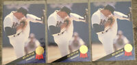 1993 Leaf #115 Nolan Ryan Lot (3) Texas Rangers HOF - All 3 GEM MINT Condition