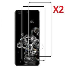 2 Pack For Samsung Galaxy S20 Ultra Tempered Glass Full  Screen Protector