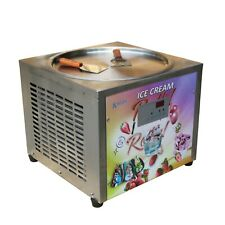Countertop 45cm 18'' round pan fried ice cream machine rolled ice cream machine