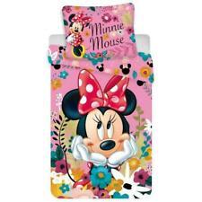 Minnie Maus Kinderbettwäsche Set 135x200 cm Duvet Garnitur Mikrofaser Bettwaren