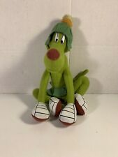 Vintage 1997 Marvin Martian K-9 Plush & Tag Dog Looney Tunes Stuffed Green Toy