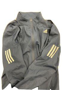 Men's adidas Navy Blue Lightweight Full Zip Running Jacket (Large)