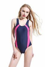 Foclassy Girl's Racing One Piece Professional Trainning Bathing Suit Swimwear