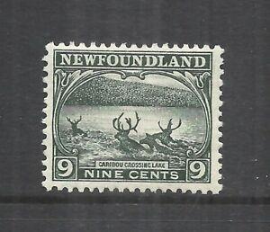 NEWFOUNDLAND SCOTT 138 MH F/VF - 1923/24 9c SLATE GREEN ISSUE   CV $42.50