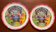 "Set of 2 Teletubbies Plate Dish, 8"", Zak Designs, Melamine~EUC"