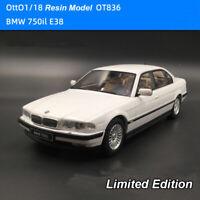 OttO Mobile 1:18 BMW 750il E38 White OT836 Resin Diecast Model Car New In Box
