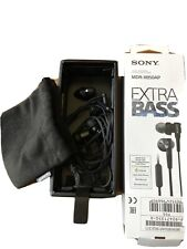 Sony MDR-XB50AP Earbud STEREO Headphones EXTRA BASS Preowned