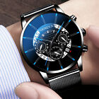 Mens Army Military Stainless Steel Wrist Watch Quartz Date Analog Sports Watches