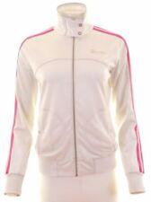 CHAMPION Womens Tracksuit Top Jacket Size 14 Medium White Polyester  JC25