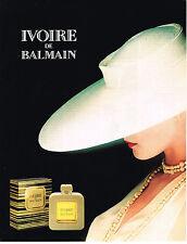 PUBLICITE ADVERTISING 064  1989   parfum femme Ivoire-de Balmain140614