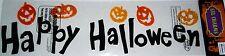 Halloween Gel Window Stick -Ons  HAPPY HALLOWEEN w/SMILING PUMPKINS