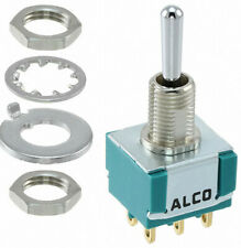 ALCO SWITCH MTA206P ON OFF ON DPDT SOLDER 6A 250VAC Box of 25