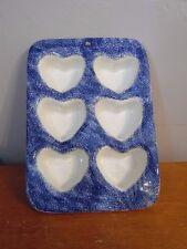 Country Stoneware Sponge Ware Muffin Pan Heart Shape Cupcakes Wall Hanging