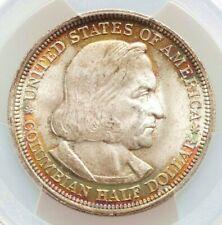 1893 PCGS MS65 Rainbow Edge Toned Columbian Expo Commemorative Half Dollar GEM