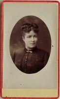 Mujer Estilo 1900 Francia Carte de visite CDV Foto Vintage Citrato